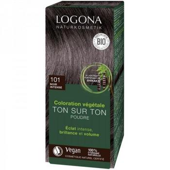 Soin colorant Bio 100 % Végétal - Noir Intense - 100 gr - Logona