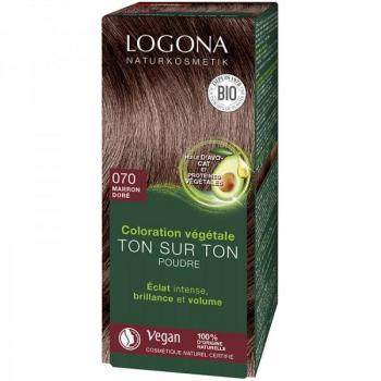 Soin colorant Bio 100 % Végétal - Marron doré - 100 gr - Logona