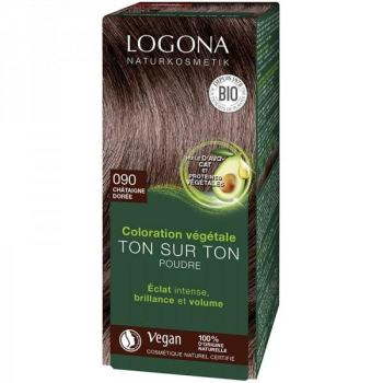 Soin colorant Bio 100 % Végétal - Châtaigne dorée - 100 gr - Logona
