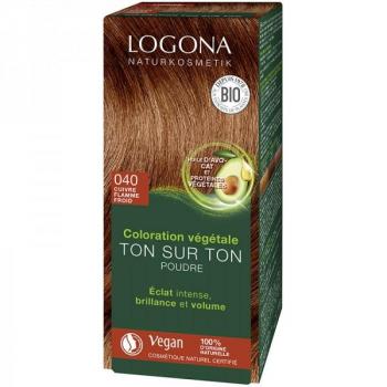 Soin colorant Bio 100 % Végétal - Cuivre Flamme froid - 100 gr - Logona