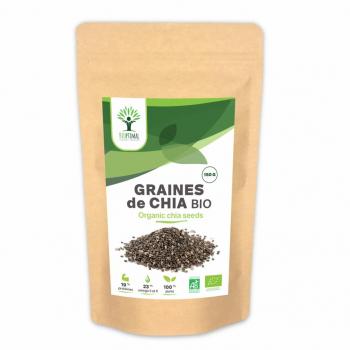 Graines de chia bio - Superaliment - Omega 3 - Transit - Made in France - Certifié par Ecocert - BIOPTIMAL - 1 kg