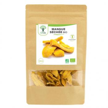 Mangue Bio - Bioptimal - Lamelles de Mangues Séchées - Conditionné en France - 300g