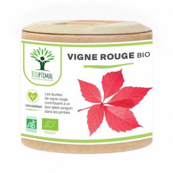 Vigne rouge Bio - Bioptimal - Peau Saine - Jambes Lourdes - Certifié par Ecocert - 60 gélules