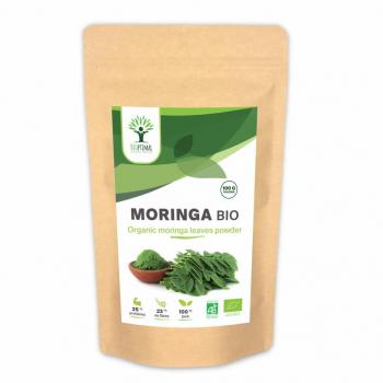 Moringa Bio - BIOPTIMAL - Compléments alimentaire - 100g en poudre