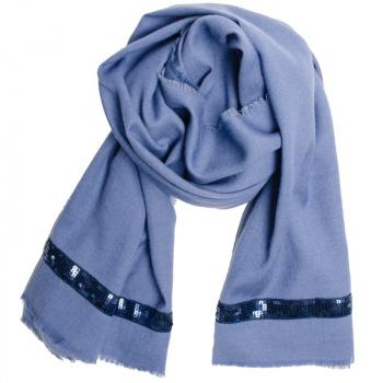 Etole laine soie cachemire Alaska bleu aux fleurs de Bach apaisantes BIO