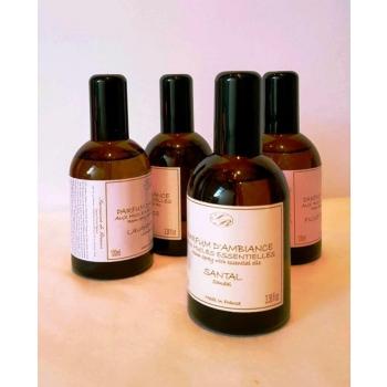 Parfum D'ambiance Aux Huiles Essentilles - Santal - 100 Ml - Savonnerie De Bormes