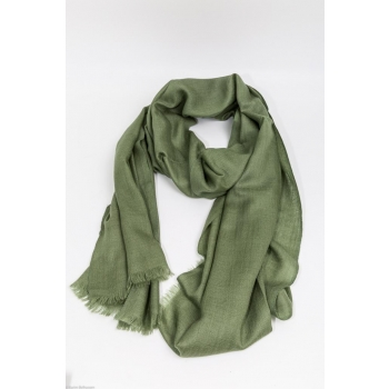 Echarpe Etole Cachemire Just Green / Collection Infinie Tendresse 2 FILS