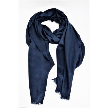 Echarpe Etole Cachemire Navy Blue / Collection Infinie Tendresse 2 FILS