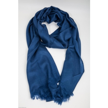 Echarpe Etole Cachemire Indigo / Collection Infinie Tendresse 2 FILS