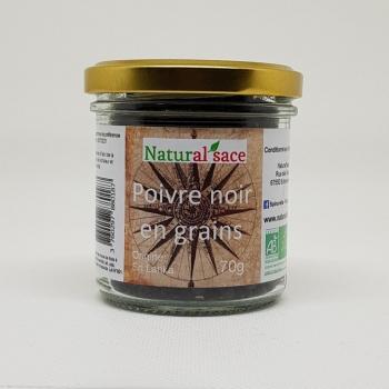 Poivre noir en grains bio - 70g