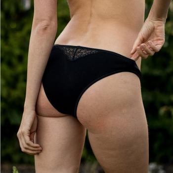 Culotte noire en coton bio Volga Olly