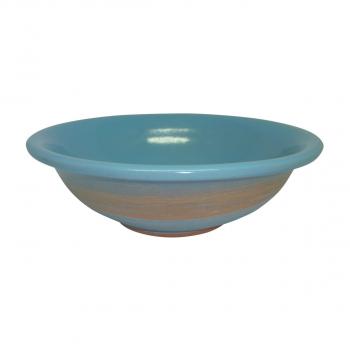 Assiette creuse 20 cm en céramique Bleu Nature