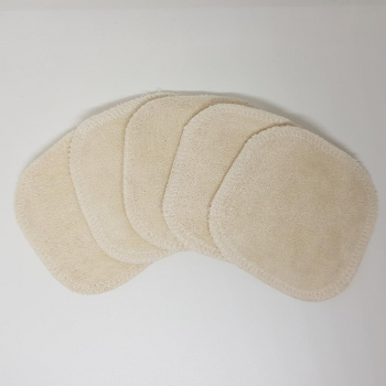 Carrés démaquillants lavables en coton bio, x5