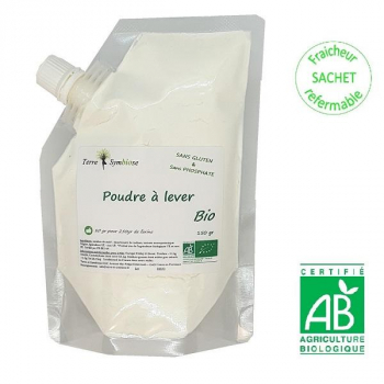 Poudre à lever Bio - 150g - Sans Phosphate et sans gluten Cuisine Pâtisserie