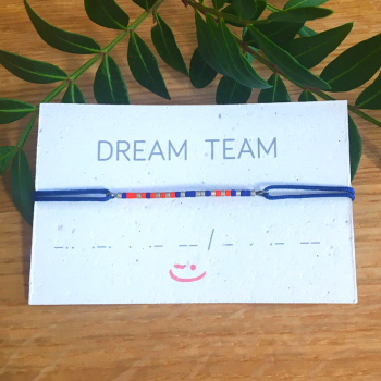 Bracelet DREAM TEAM écrit en code morse