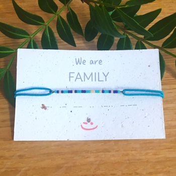 Bracelet message FAMILY écrit en code morse