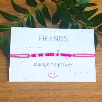 Bracelet message FRIENDS en code morse