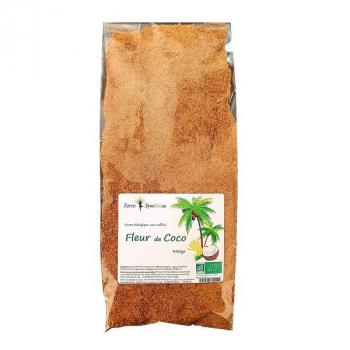 Sucre Fleur de Coco Biologique non raffiné - 450 g bio - dégustation, cuisine