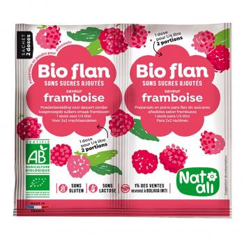 Bioflan framboise sans sucres ajoutés 8g bio - Nat-Ali