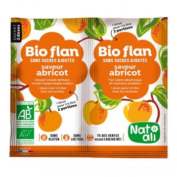 Bioflan abricot sans sucres ajoutés 8g bio - Nat-Ali