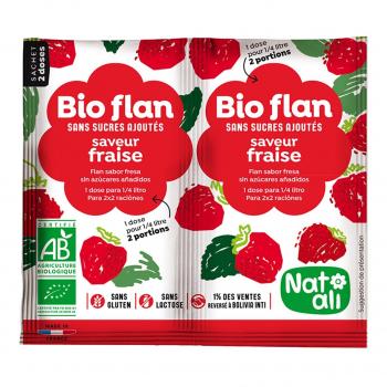Bioflan fraise sans sucres ajoutés 8g bio - Nat-Ali