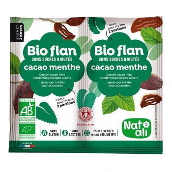 Bioflan chocolat-menthe sans sucres ajoutés 10g bio - Nat-Ali