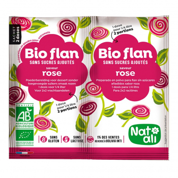 Bioflan rose sans sucres ajoutés 8g bio - Nat-Ali
