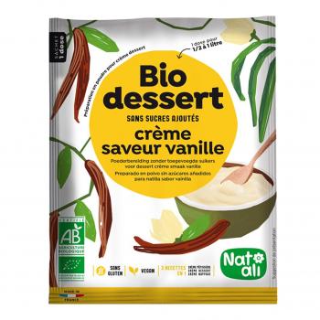 Biocrème vanille sans sucres ajoutés 1l bio - Nat-Ali