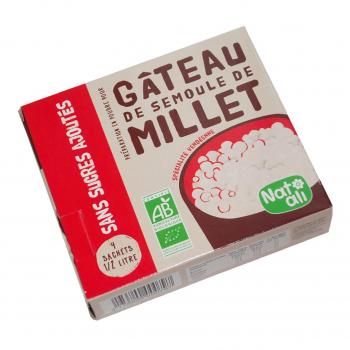 Préparation pour gâteau de semoule de millet sans sucres ajoutés 4x0,5l 168g bio - Nat-Ali