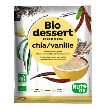 Préparation pour crème chia-vanille 60gr bio - Nat-Ali