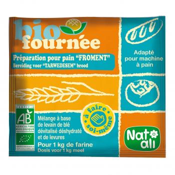 Préparation pour pain Biofournée froment 35g bio - Nat-Ali