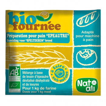 Préparation pour pain Biofournée épeautre 35g bio - Nat-Ali