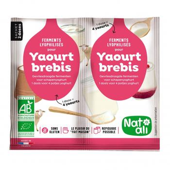Ferment pour yaourt au lait de brebis 2x6g bio - Nat-Ali