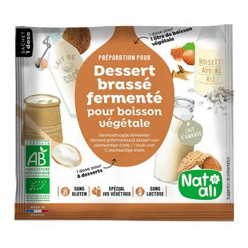 Ferment pour dessert brassé végétal 24g bio - Nat-Ali