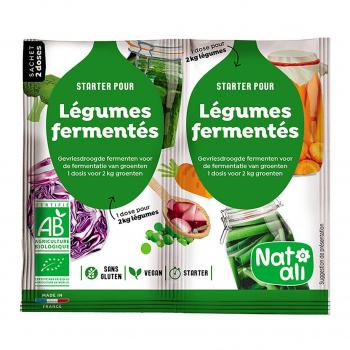 Starter pour légumes lacto-fermentés 2x5g bio - Nat-Ali