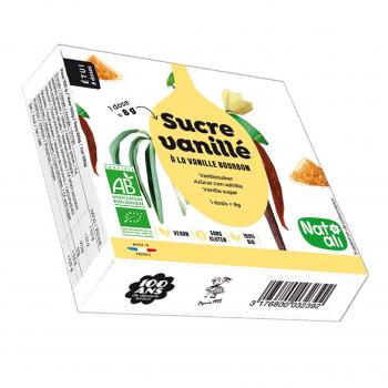 Sucre vanillé 8x8g bio - Nat-Ali