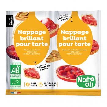 Nappage brillant pour tartes 2x10g bio - Nat-Ali