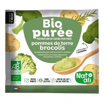 Purée de pomme de terre-brocolis 30g bio - Nat-Ali