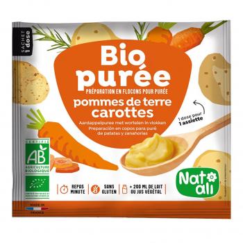 Purée de pomme de terre-carotte 30g bio - Nat-Ali