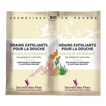 Grains exfoliants corps Douceur Hydratant 2x2,5gr bio - Secrets des Fées