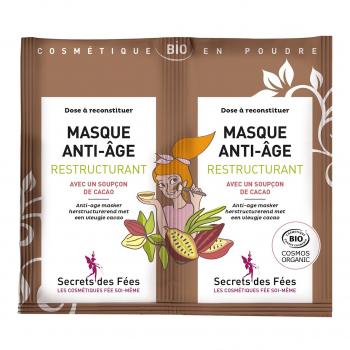 Masque visage Anti-âge Restructurant 2x4,5gr bio - Secrets des Fées