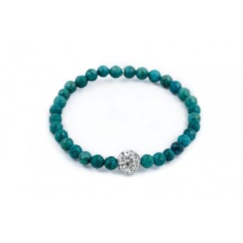 Bracelet Turquoise perles naturelles semi précieuses et strass