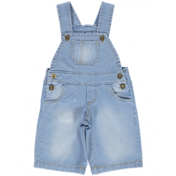 Léandro la Salopette courte en jean bébé