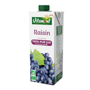 Pur jus de raisin rouge Tetra 20cl bio - Vitamont