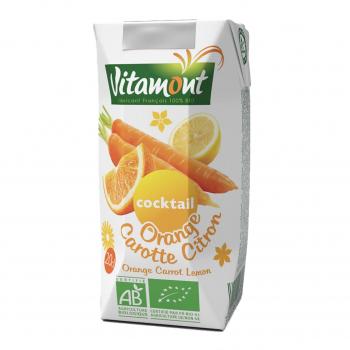 Cocktail orange-carotte-citron Tetra 20cl bio - Vitamont