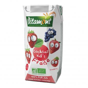 Cocktail kid's fraise Tetra 20cl bio - Vitamont