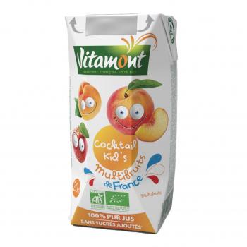 Cocktail kid's multifruits de France Tetra 20cl bio - Vitamont