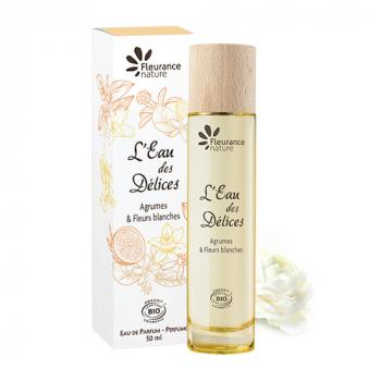 Parfum l'eau des delices agrumes et fleurs blanches