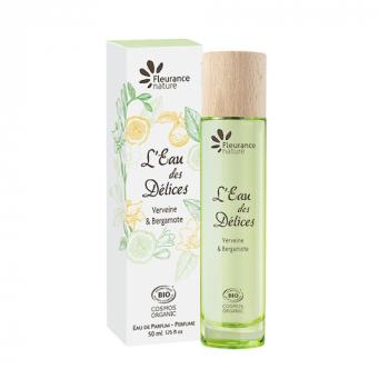 Parfum l'eau des delices verveine et bergamote