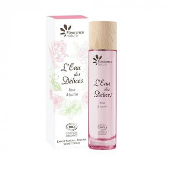 Parfum l'eau des delices rose et jasmin